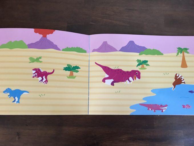 4歳児が貼ったダイソーシールブック